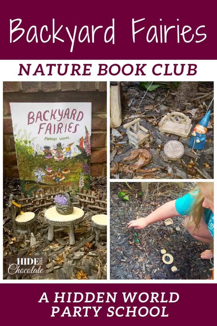 Backyard Fairies Book Club ~ A Nature Book Club of Hidden Worlds The magical world of tiny creatures who flutter about and make their home in your backyard were the inspiration for our Backyard Fairies Book Club. Take a nature hike into the hidden world of fairies with us. #onlinebookclub #naturebookclub