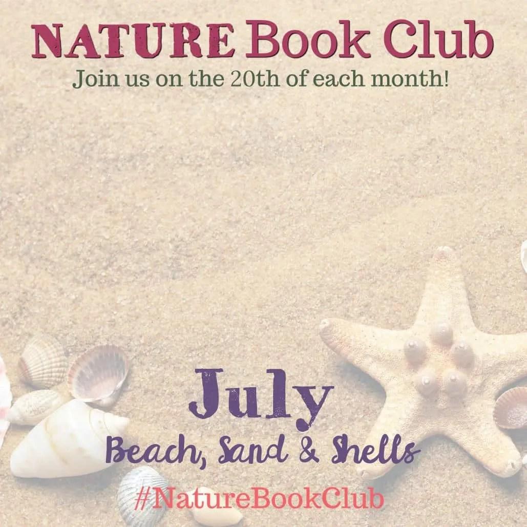 Nature Book Club Blog Hop - July Beach Sand and Shells