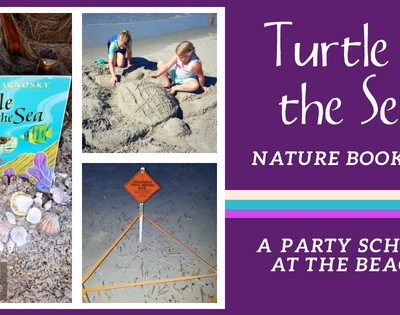 Turtle in the Sea Nature Book Club ~ A Party School at the Beach