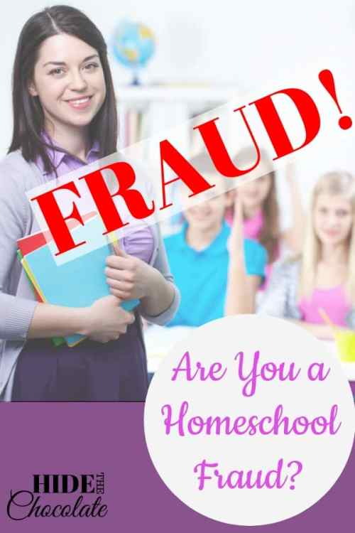 Are you a homeschool fraud