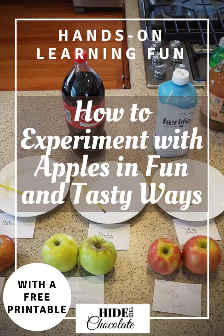 A bad week can easily be turned around by breaking out the science experiment books & discovering something new & fun like our recent experiment with apples. #homeschooling #appleexperiment