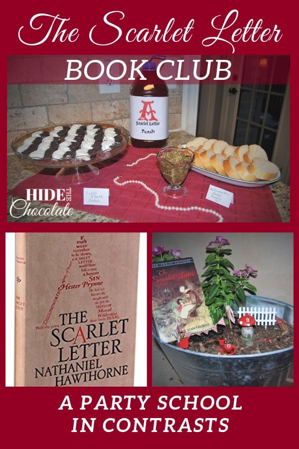 Light and dark cookies, scarlet punch and illuminated letters were some of the ways my guest writer, Chantelle, and her family celebrated their latest literary adventure, The Scarlet Letter book club.