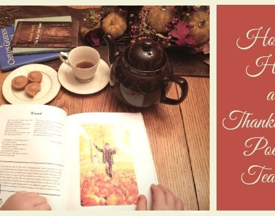 How to Host a Thanksgiving Poetry Teatime Featured