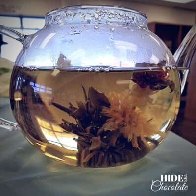 Christmas Poetry Teatime - Keen Observation - Tea Ball in teapot
