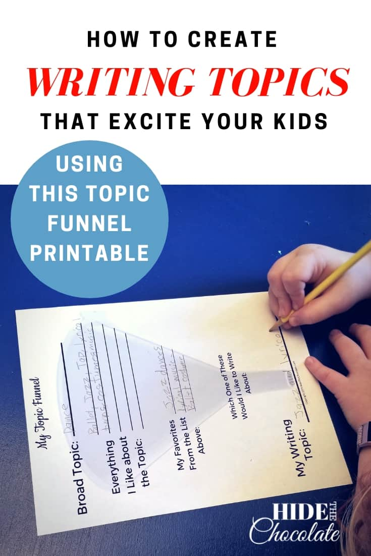 How to Create Writing Topics That Excite Your Kids Using a Topic Funnel