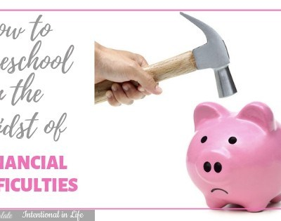 How to Homeschool in the Midst of Financial Difficulties