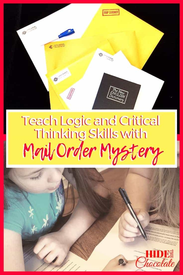 Teach Logic and Critical Thinking Skills with Mail Order Mystery PIN