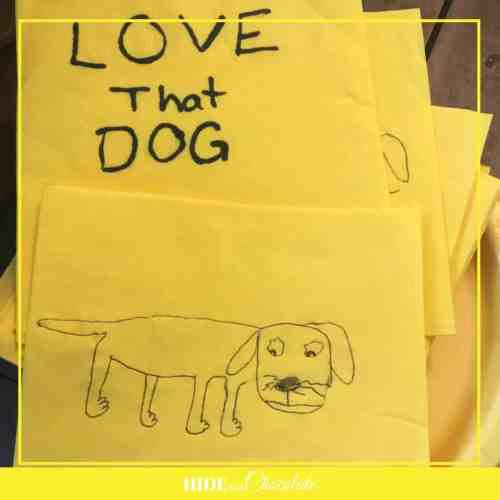 Love That Dog Book Club-Napkin