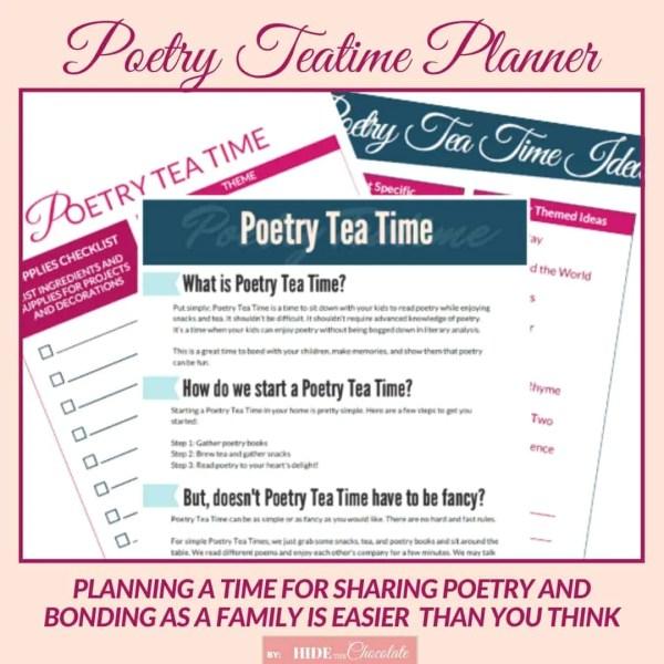 Poetry Teatime Planner Woo