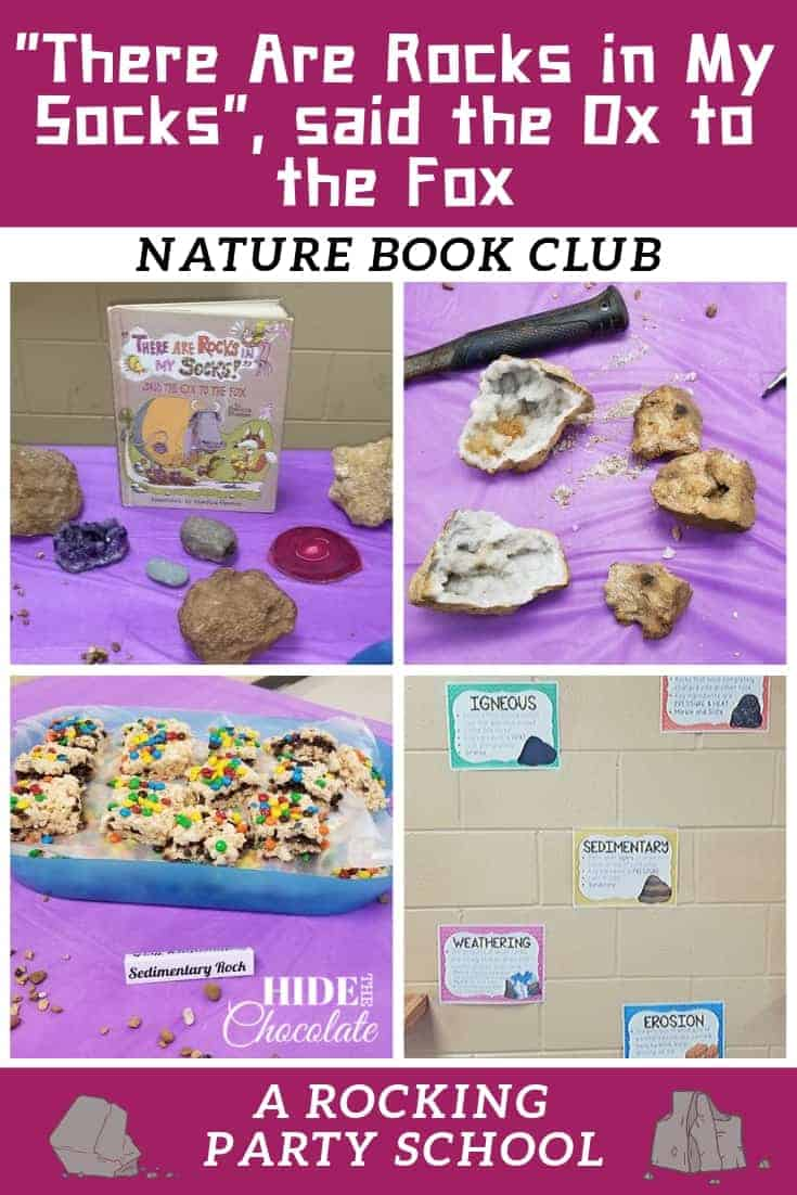 """There Are Rocks in My Socks!"" said the Ox to the Fox Nature Book Club ~ A Rocking Party School"