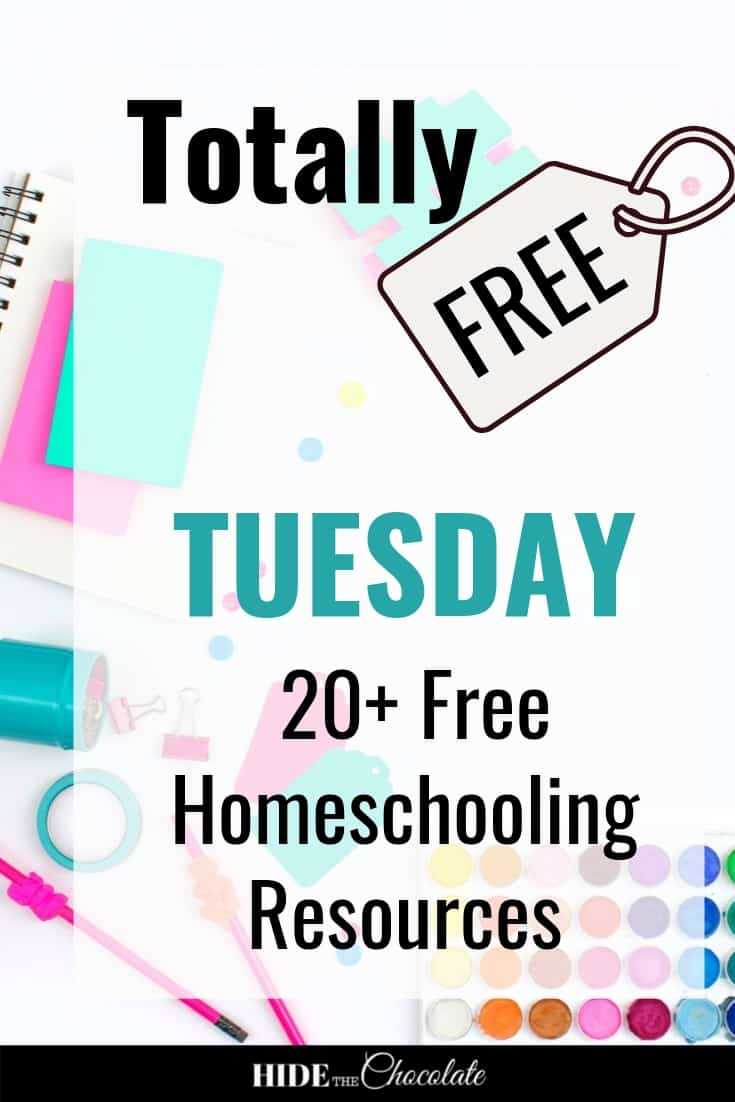 It's Totally Free Tuesday ~ This Month's Roundup of Free Homeschool Resources