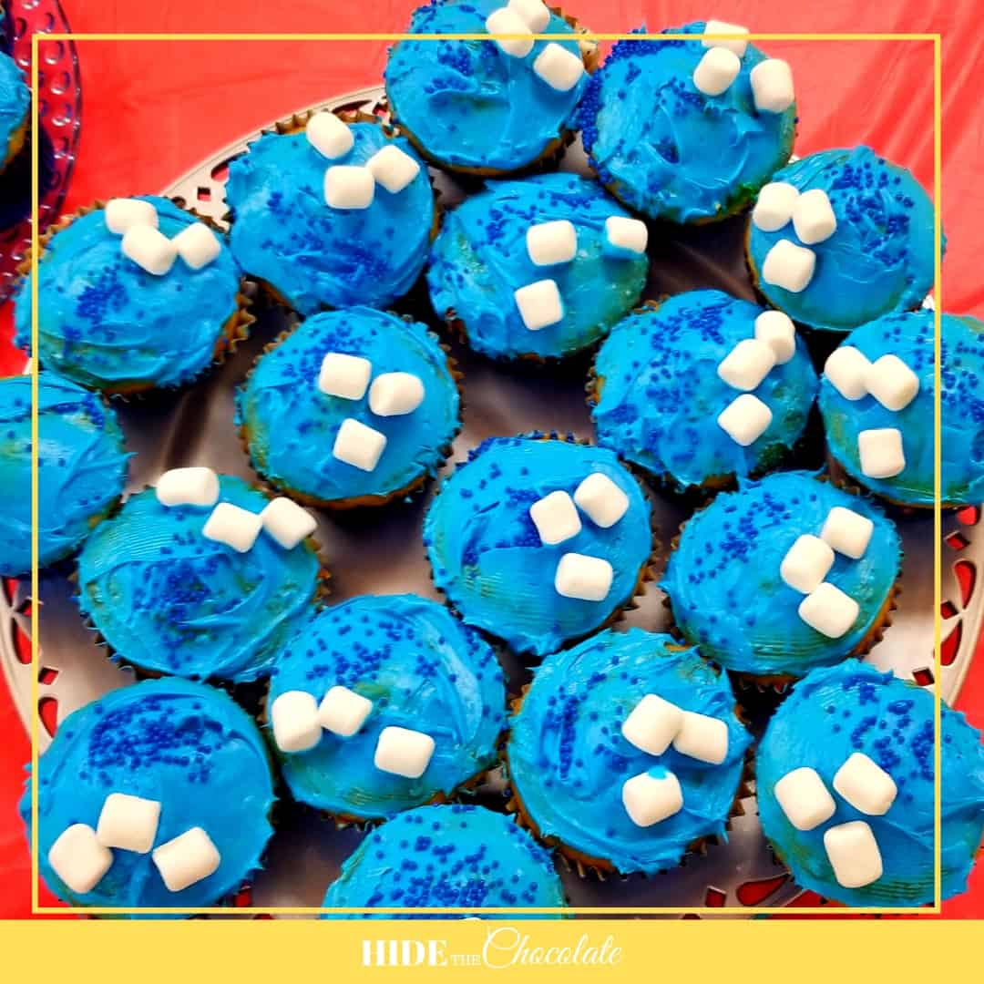 Cloudy with a Chance of Meatballs Nature Book Club-Cloud Cupcakes