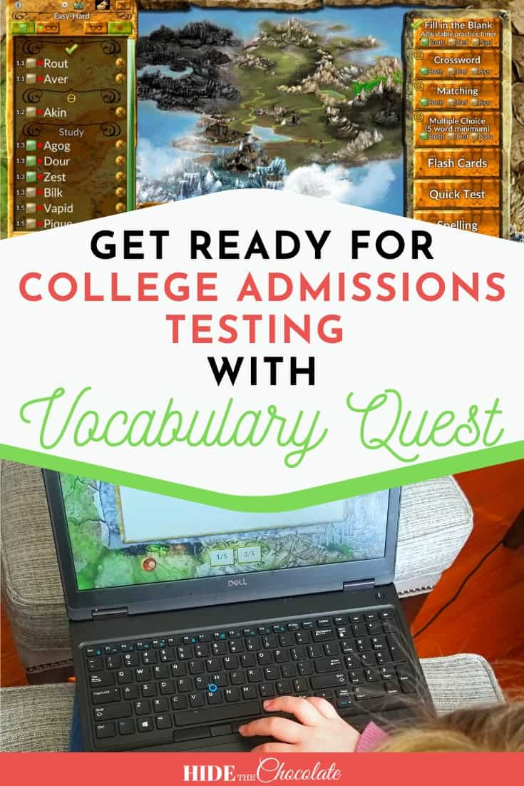 Get Ready For College Admissions Testing With Vocabulary Quest PIN 1
