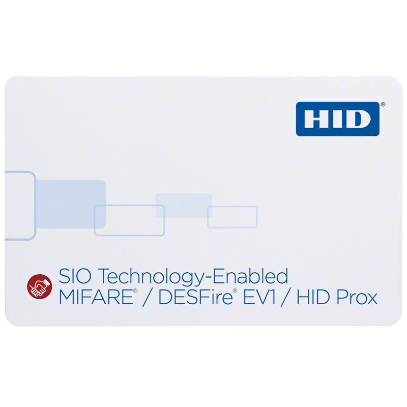 HID® iCLASS SE® 38xx SIO-Enabled MIFARE®/DESFire® EV1 + Prox Card
