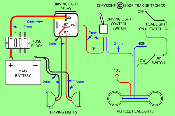 Driving Light Wiring Diagrams Negative And Positive Switching