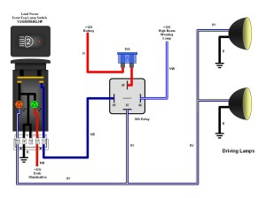 Wiring Diagram needed to install Piaa 80 Series Lamps on 46HSE