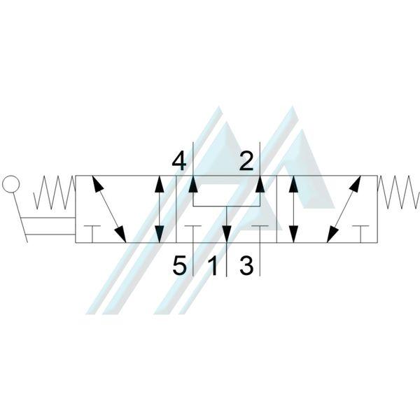 Válvula direccional manual con palanca BOSCH 0820410112
