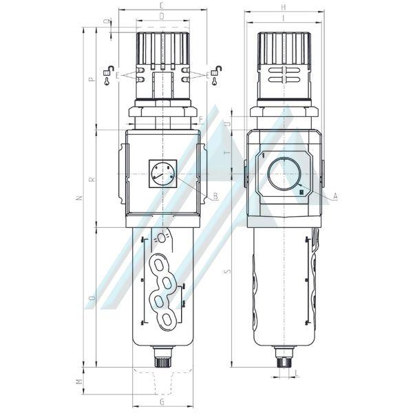 Filtro regulador de presión MX