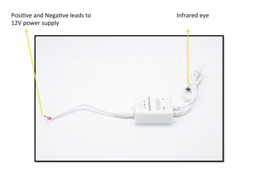 medium resolution of infrared remote module controller for led halo rings