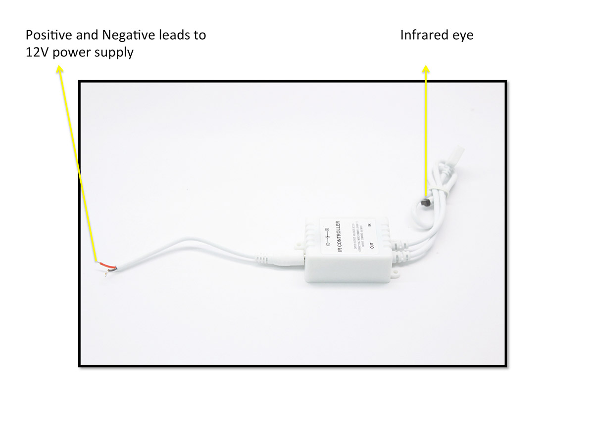 hight resolution of infrared remote module controller for led halo rings