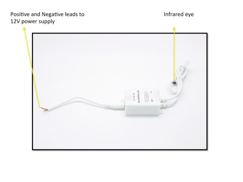 small resolution of infrared remote module controller for led halo rings