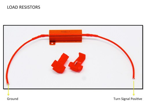 small resolution of load resistors installation diagram guide for turn signals led lights