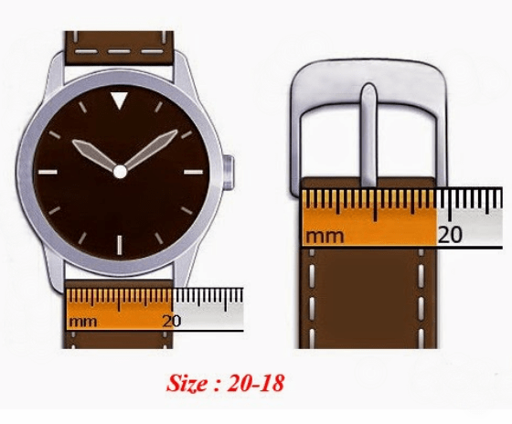 size-wrist-watch-strap