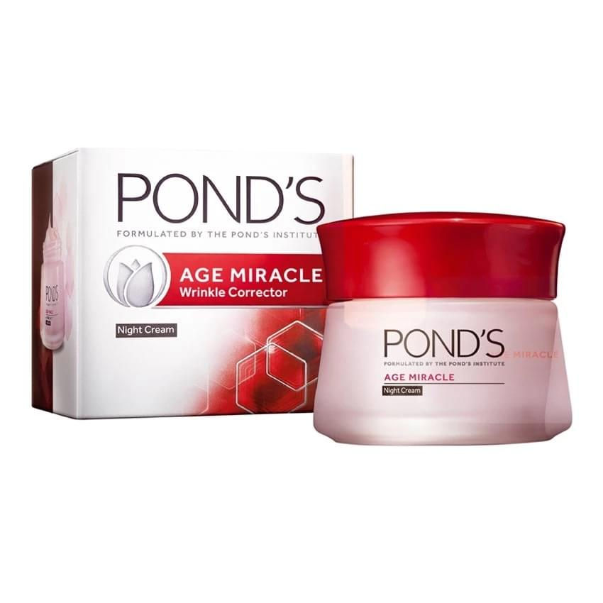 Ponds age miracle night cream pro cell complex for Ponds products