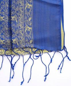 double-layer-women-scarf-silkworm-blue-yellow-pattern