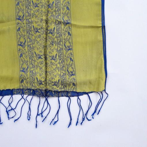 double-layer-women-scarf-natural-silkworm-blue-yellow