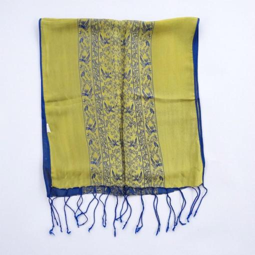 double-layer-women-scarf-natural-silkworm-blue-and-yellow