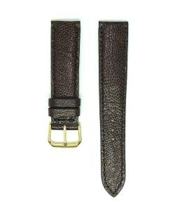 Chocolate Ostrich Leather Wristwatch Strap