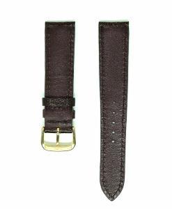 chocolate-ostrich-leather-wristwatch-strap
