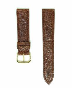 Wrist Watch Strap Dark Brown Ostrich Leather
