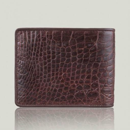 Bifold Crocodile Alligator Chocolate Men Wallet