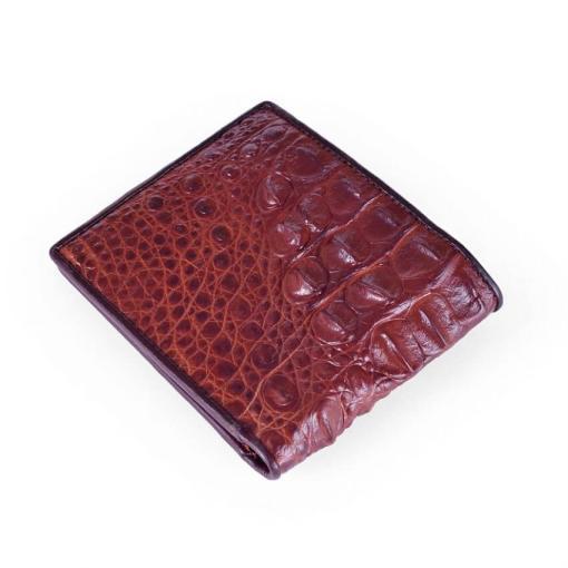Crocodile Back Skin Leather Men Wallet