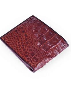Crocodile Back Skin Leather Men Wallet