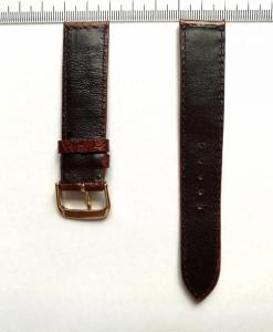 watch-strap-ostrich-leather-dark-brown-20mm