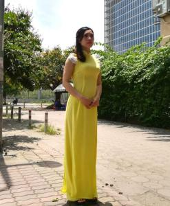 Yellow-Ao-Dai-With-Lace-Short-Sleeves-hien-thao-shop