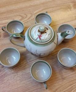 Bat Trang Ceramic Tea Sets Eel Skin Glaze