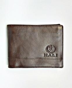 Men Billfold Cow Leather Wallet Brown Chocolate