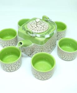 Green Cracked Glaze Bat Trang Ceramic Tea Set