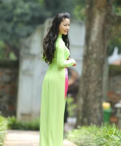 Viet Nam Ao Dai Custom Made Green 2