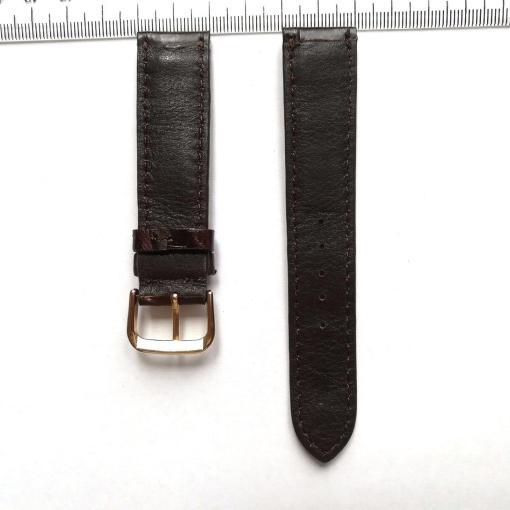 Dark Brown Crocodile Wrist Watch Strap 20mm 2