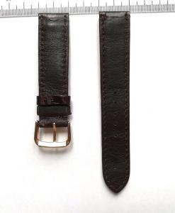 Dark Brown Crocodile Wrist Watch Strap 20mm 2