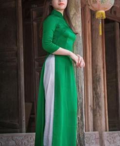 Light Green Ao Dai Viet Nam 3