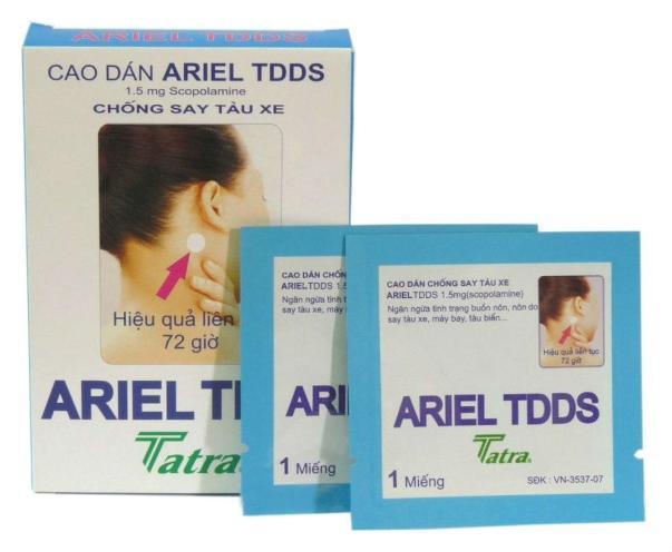 Motion Sickness Ariel TDDS Patch 3