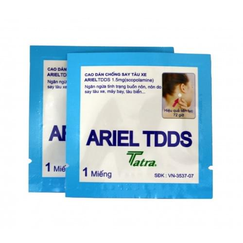 Motion Sickness Ariel TDDS Patch