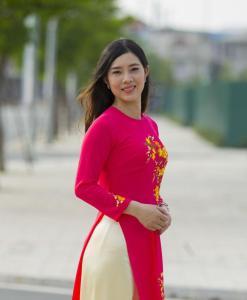 Red Embroidery Ao Dai Custom Made