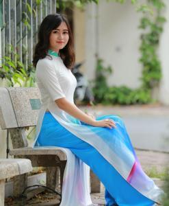 Ao Dai Vietnam Short Sleeves 1
